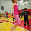 Amesbury Avery Hallinan, 8, and her fellow classmates participate in a jump-a-thon at Amesbury's Cashman School on Tuesday. The whole school took turns in Ted Flaherty's phys ed classes for the Jump for Heart to raise money for American Heart Association. Bryan Eaton/Staff Photo