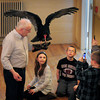 Newburyport: Tom Ricardi of the Massachusetts Bird of Prey Rehabilitation Facility shows off a turkey vulture upstairs at Newburyport City Hall during the Eagle Festival on Saturday. Bryan Eaton/Staff Photo