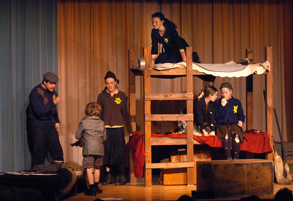 "Groveland: ""Terezin: Children of the Holocaust"" a play by Anna Smulowitz was performed at Pentucket Middle School on Thursday morning. Bryan Eaton/Staff Photo"