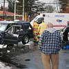 Salisbury: A pregnant woman was injured, in this Ford Explorer, in a two vehicle collision at Routes 1 and 286 in Salisbury around 9:00am yesterday morning. Bryan Eaton/Staff Photo