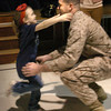 Rowley: Isabelle McCann is just a blur as she runs to her father Steve who just returned from a tour in Afghanistan and surprised her at the Pine Grove School in Rowley yesterday afternoon. Bryan Eaton/Staff Photo