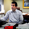 Newburyport: Ralph Castagna speaks from his office on Parker Street. Bryan Eaton/Staff Photo