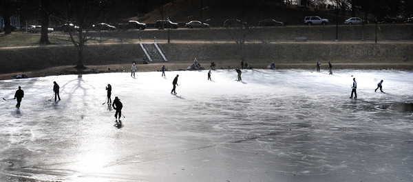 Newburyport: A couple dozen skaters hit the Frog Pond at the Bartlet Mall early on Monday afternoon, out of school for Martin Luther King Day.
