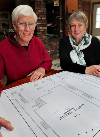 Newburyport: Skip and Marge Motes have done extensive deed research into the history of homes along Newburyport's South End waterfront, using old maps,  and will be publishing a book on their findings. Bryan Eaton/Staff Photo