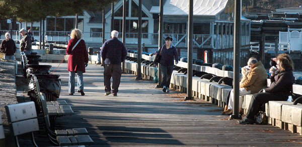 Newburyport: Newburyport's waterfront this time of year is often deserted, but yesterday's 50-plus degree weather brought people out. Bryan Eaton/Staff Photo
