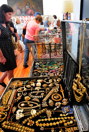 Newburyport: Everything from jewelry, to prints and vintage kitchenware is available at the 48th Annual Antique Show at the Belleville Congregational Church. Bryan Eaton/Staff Photo