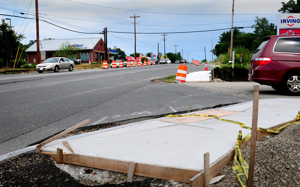 Amesbury: The widening of Route 110 in Amesbury appears to have slowed as much of the project remains unfinished. Bryan Eaton/Staff Photo