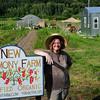 West Newbury: Erin Stack at her farm on Bridge Street in West Newbury. Bryan Eaton/Staff Photo