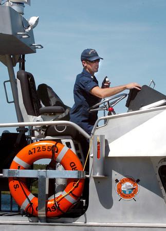 Newburyport: US Coast Guard BM2 Graham Sahli at Merrimack Station. Bryan Eaton/Staff Photo