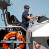Newburyport: US Coast Guard BM2 Graham Sahli at Merrimack Station. Bryan Eaton/Staff Photo