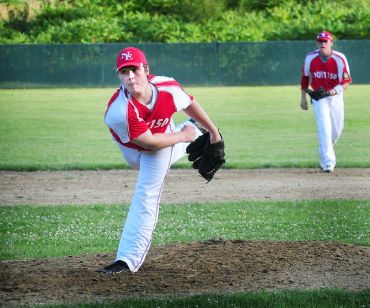 Rowley: Nor'Easters pitcher Charles Nutter in earlier action against Lynn. Bryan Eaton/Staff Photo