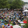 Newburyport: People fill Market Landing Park for the 11th annual Riverfront Festival at in Newburyport Saturday. Jim Vaiknoras/staff photo
