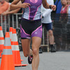 Amesbury: Dam Triathlon womens winner Shaina Damm take off in the running part of the race Saturday at Lake Gardner in Amesbury. Jim Vaiknoras/staff photo