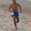 Salisbury: Bob Strout wins the Fuel Training 5k run/walk on Salisbury Beach Friday nght. Jim Vaiknoras/staff photo