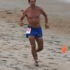 Salisbury: Bob Strout wins the Fuel Training 5k run/walk on Salisbury Beach Friday nght. Jim Vaiknoras/staff photo