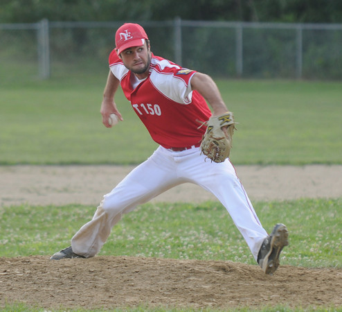 Rowley: Ryan Browner pitches for Post 150 against Haverhill. Jim Vaiknoras/staff photo