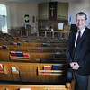 Newburyport: Rev. Rusty Davis at the People United Methodist Church. Jim Vaiknoras/staff photo