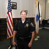 Amesbury: Lauren Tirone is sworn in at the Amesbury Police Station as the cities first full time female police officer. Jim Vaiknoras/staff photo