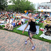 Newburyport: Liz Bouchard of Maine, dances to the music of The Brew at the 11th annual Riverfront Festival at Market Landing Park in Newburyport Saturday. Jim Vaiknoras/staff photo