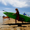 Salisbury: Female competitors head into the water at the 2nd annual Atlantic Paddle Battle Race Series on Salisbury Beach Saturday. Jim Vaiknoras/staff photo