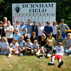 West Newbury: Desendances of Elmer Burnham pose for a family photo at the West Newbury ball field named in his honor. Jim Vaiknoras/staff photo