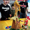 Newburyport: Members of the Kelley School Teen Center in Newburyport built volcanoes in arts and crafts surrounding a bottle of Coca-Cola. Yesterday they dropped Mentos mints into them creating a chemical reaction to the delight of the teens there, until they had to clean up the sticky mess. Bryan Eaton/Staff Photo