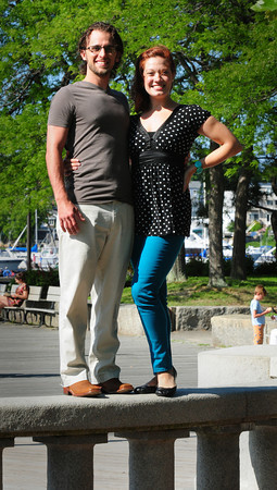 "Newburyport: Newburyport native Rachel MacIsaac and her husband Chris are in Boston appearing in ""Mama Mia."" Bryan Eaton/Staff Photo"