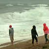 Newbury: Several people came and went at high tide on Plum Island Center yesterday afternoon to check out the waves from the storm hugging the coast. The forecast is for less wind today with rain dimishing into tomorrow. Bryan Eaton/Staff Photo
