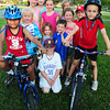 Newburyport: Rudy McQuaid, 6, left, and Tarek El Ouilani, 7, right and their friends will be biking for charity tomorrow. Bryan Eaton/Staff Photo