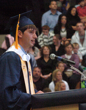 Byfield: Triton valedictorian Demitri Tzitzon speaks about the future. Bryan Eaton/Staff Photo