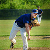 Rowley: Rowley Rams pitcher Mike Sloban kicks off the new season at Eiras Field. Bryan Eaton/Staff Photo