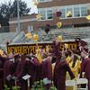 Newburyport: Students toss their caps in celebration at the Newburyport High Graduation Ceremony at War Memorial Stadium  Sunday. jim Vaiknoras/staff photoa