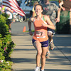 Newburyport : Lindsay Cullen of Newburyport wins the Flag Day 5k Thurday night. Jim Vaiknoras/staff photo