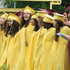 "Newburyport: Graduates sing  their school song, ""Alma Mater""Newburyport High Graduation Ceremony at War Memorial Stadium Sunday. jim Vaiknoras/staff photo"