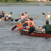Amesbury: Racers take off at teh start of The fourth annual Lake Gardner Classic 5K Canoe and Kayak Race, sponsored by Lake Gardner Improvement Association Saturday. Jim Vaiknoras/staff photo