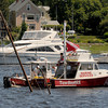 Newburyport: TowBoat/US responds to a sunken wooden sailboat off the Newburyport waterfront Sunday morning. JIm Vaiknoras/staff photo