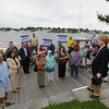 Newburyport: Donald Power of Union Studio answers questions about the development of the waterfront during a tour Saaturday morning. Jim Vaiknoras/staff photo