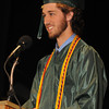 west Newbury: Class Valadictorian Cameron Fowler speaks at the Pentucket Commencement Saturday.<br /> . Jim Vaiknoras/staff photo