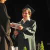 West Newbury: LeBraron Atherton recieves his diploma from School Commitee Chair Christine Reading at the Pentucket Commencement Saturday.Jim Vaiknoras/staff photo. Jim Vaiknoras/staff photo