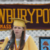 Newburyport: Salutatorian Jillian Whelan gives her speach at the Newburyport High Graduation Ceremony at War Memorial Stadium  Sunday. jim Vaiknoras/staff photoa