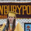 Newburyport: Salutatorian Jillian Whelan gives her speach at the Newburyport High Graduation Ceremony at War Memorial Stadium  Sunday. jim Vaiknoras/staff photoa