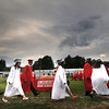Amesbury: Amesbury high graduates make their way into Landry Stadium Friday night. Jim Vaiknoras/staff photo