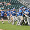 Lowell: Georgetown's baseball team celebrates their 5-2 victory over Northeast Metro to claim the Div 4 North Secional Championship at LeLacheur in Lowell Saturday. Jim Vaiknoras/staff photo