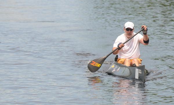 Amesbury: Shawn Burke wins the fourth annual Lake Gardner Classic 5K Canoe and Kayak Race, sponsored by Lake Gardner Improvement Association Saturday. Jim Vaiknoras/staff photo