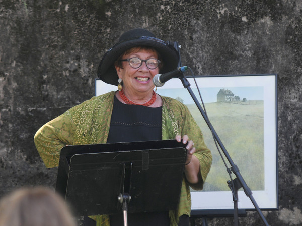 "Newburyport: Speaker Cynthia Costello speaks about the life of Whittier at third annual "" Celebrating John Greenleaf Whittier"" at the Maudslay Art Center in Newburyport sunday. Jim Vaiknoras/staff photo"