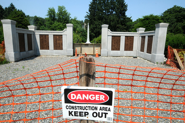 Newburyport: Construction continue on the Civil War Memorial at Atkinson Common. Jim Vaiknoras/staff photo