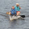Amesbury: Logan Nyman and his grandfather Steve Nymanrace to the finish line at the fourth annual Lake Gardner Classic 5K Canoe and Kayak Race, sponsored by Lake Gardner Improvement Association Saturday. The two have been training togther all spring. JIm Vaiknoras/staff photo