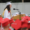Amesbury:Samantha Fortin gives the Valedictory address at the Amesbury high graduation at  Landry Stadium Friday night. Jim Vaiknoras/staff photo