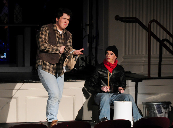 "Newburyport: The Newburyport High School production of ""Rent"" opens tonight in the school auditorium. Bryan Eaton/Staff Photo"
