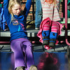 Newburyport: The Tot Lot on Inn Street was a busy place on Wednesday afternoon as the temperature approached 60 degrees. Sisters Ella Dooling, 7, left, and Phoebe, 3, of Newbury took some turns going down the slide at the playground. Bryan Eaton/Staff Photo